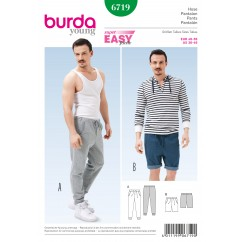 BURDA - 6719 Mens Pants