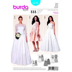BURDA 6776 Ladies Dress-Wedding