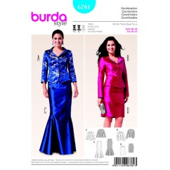 BURDA 6781 Ladies Coordinate-Evening