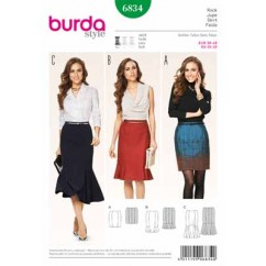 BURDA - 6834 Ladies Skirt