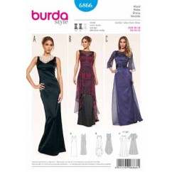 BURDA - 6866 Ladies Dress Evening