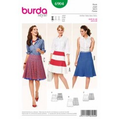 BURDA - 6904 Ladies Skirt