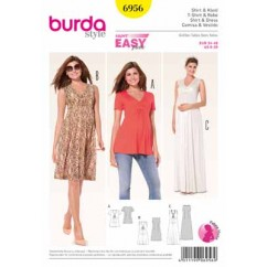 BURDA - 6956 Ladies Dress/Blouse