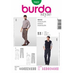 BURDA - 7022 Mens Pants