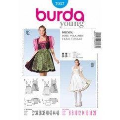 BURDA - 7057 Costume Ladies Folklore