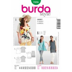 BURDA - 7098 Ladies Top
