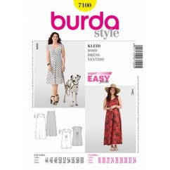 BURDA - 7100 Ladies Dress-Plus
