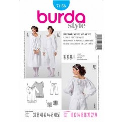 BURDA - 7156 Costume Ladies-Historical