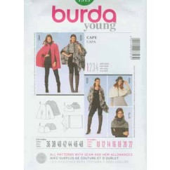 BURDA - 7313 Ladies Cape