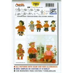 BURDA - 7903 Accessory Doll Clothes