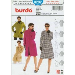 BURDA - 8292 Ladies Coat-Plus