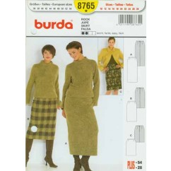 BURDA - 8765 Ladies Skirt-Plus