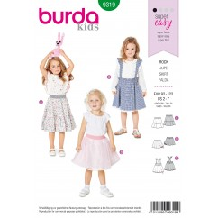 BURDA - 9319 Skirt with Elastic Waistband – Pinafore Skirt