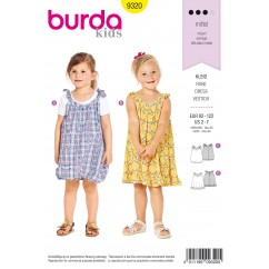 BURDA - 9320 Pinafore Dress – Balloon Hem Dress – Loose Fit Dress