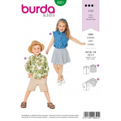 BURDA - 9321 Shirt – Sleeveless Blouse