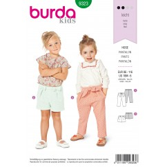 BURDA - 9323 Elastic Waist Pants/Trousers – Shorts – Hip Yoke Pockets