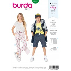 BURDA - 9324 Elastic Waist Pants – Shorts – Hip Yoke Pockets