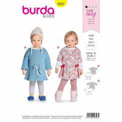 BURDA 9327 - Baby'S Dress with Elastic Casing And Integral Sleeves