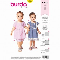 BURDA - 9339 Dress and Panties - Strap Dress with Frills