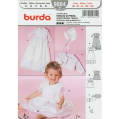 BURDA - 9804 Child Christening Gown