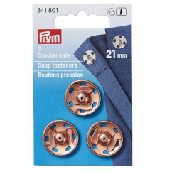 Snap fastener - 21mm rose gold