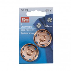 Snap fastener - 30mm rose gold