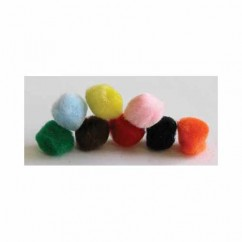 "HOBBY Pompoms Assorted - 25mm (1"") - 8 pcs"