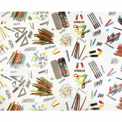 Tablecloth Vinyl - School - Multicolour