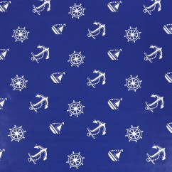 Tablecloth Vinyl - Navy - Blue