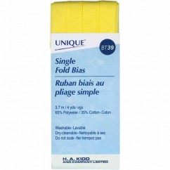 UNIQUE - Single Fold Bias Tape - 13mm x 3.7m - Canary