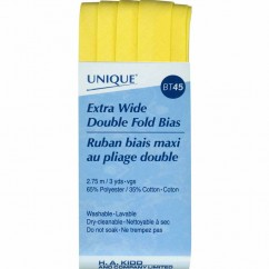 UNIQUE - Extra Wide Double Fold Bias Tape - 15mm x 2.75m - Canary