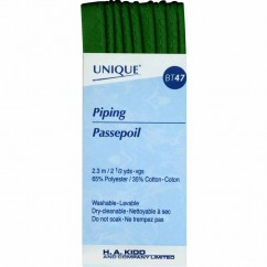 UNIQUE Corded Piping 3.2mm x 2.3m - Hunter Green