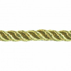 CREATIV DÉCOR Metallic Twisted Cords 6mm - Gold