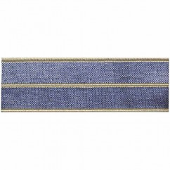 CREATIV DÉCOR Metallic Elastic Stripe 18mm - Beige/Silver