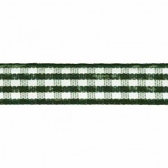 CREATIV DÉCOR Taffeta Check Ribbons 9mm - Green