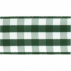 CREATIV DÉCOR Taffeta Check Ribbons 22mm - Green