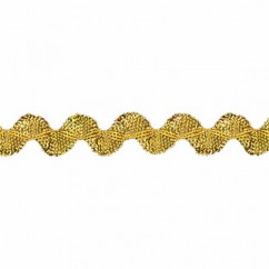 CREATIV DÉCOR Metallic Rick Rack 9mm - Gold