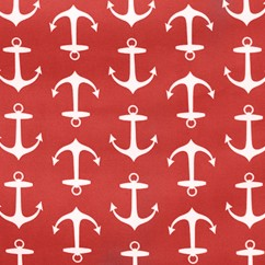 Home Decor Indoor / Outdoor Fabric - Terrazo - Maritime anchors - Red