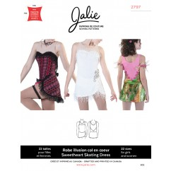 Jalie Pattern 2797 - Figure skating dress (strapless illusion)