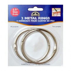 "DMC #6110 - 2 1/2"" Metal Craft Rings - 2 Pack"