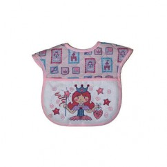 DMC CHARLES CRAFT Printed Quilted Bib - Little Princess