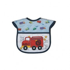 DMC CHARLES CRAFT Printed Quilted Bib - Fire Truck