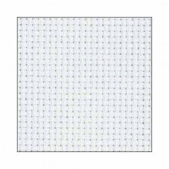 "DMC CHARLES CRAFT #GD1438BX - 14 Count Gold Standard Aida - 20"" x 24"" -  White"