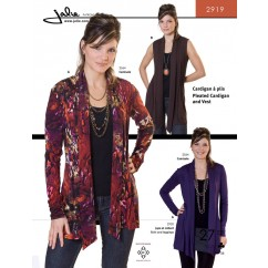 Jalie Pattern 2919 - Pleated cardigan and vest