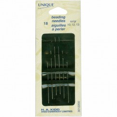 UNIQUE SEWING Beading Needles - sizes 10/12 -18pcs