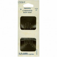 UNIQUE SEWING Tapestry Needles - size 20 - 6pcs