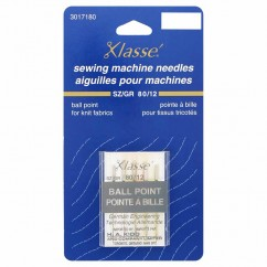 KLASSE´ Ball Point Needles Carded - Size 80/12 - 5 count