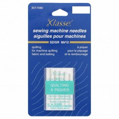 KLASSE´ Quilting Needles Carded - Size 80/12 - 5 count