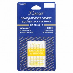 KLASSE´ Embroidery Needles Carded - Size 80/12 - 5 count
