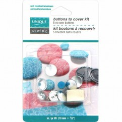 "UNIQUE SEWING Buttons to Cover Kit with Tool - size 20 - 13mm (½"") - 5 sets"